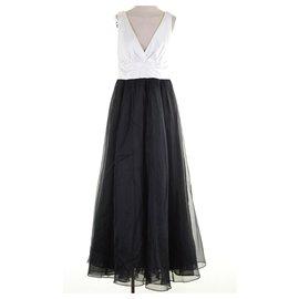 Vera Wang-Robe noire et blanche-Noir,Blanc