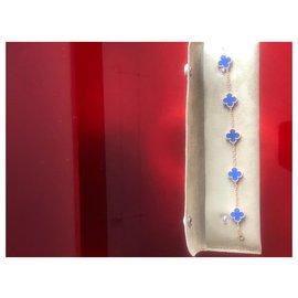 Van Cleef & Arpels-Bracelet Alhambra 5 motifs-Bleu
