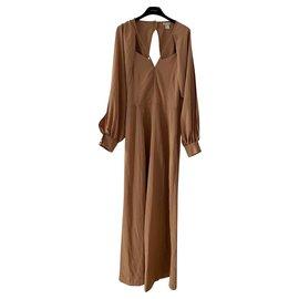 Autre Marque-H&m Combi pantalon camel-Caramel