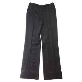 Chanel-CHANEL Dressed Pants-Black