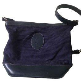 Yves Saint Laurent-YSL-Vintage-Tasche-Blau