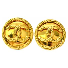 Chanel-Boucles d'oreilles clip Chanel-Doré
