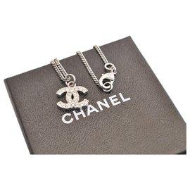 Chanel-Chaîne Logo Chanel CC-Argenté
