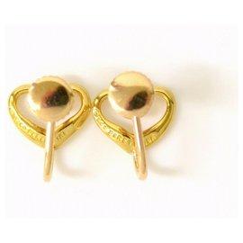 Tiffany & Co-TIFFANY & CO. Boucles d'oreilles coeur ouvert-Doré
