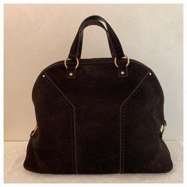 Yves Saint Laurent-Weekend Muse bag-Dark brown