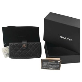 Chanel-Purse wallet phone case-Black