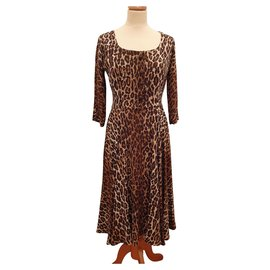 Dolce & Gabbana-Leopard print dress. 38 IT (34/36 fr)-Leopard print