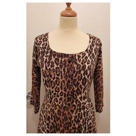 Dolce & Gabbana-Robe imprimé léopard t. 38 IT (34/36 Fr)-Imprimé léopard