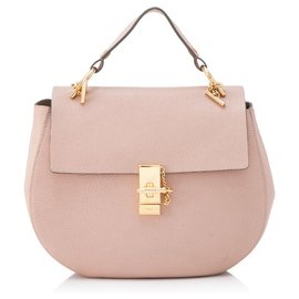 Chloé-Chloe Pink Large Lambskin Leather Drew-Pink,Other
