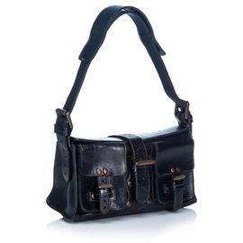Mulberry-Mulberry Black Roxanne Leather Shoulder Bag-Black