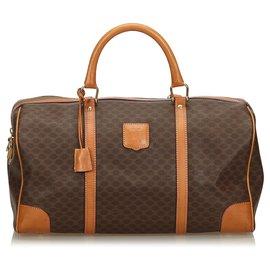 Céline-Celine Brown Macadam Duffle Bag-Brown,Dark brown