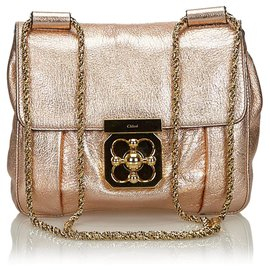 2acaf673b Chloé-Chloe Pink Metallic Leather Elsie Crossbody Bag-Pink ...