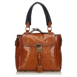 Chloé-Chloe Brown Leather Tote Bag-Brown