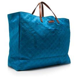 Gucci-cabas en nylon GG Bleu Gucci-Bleu