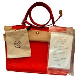 Hermès-Kelly handbag 28-Orange