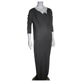 Halston Heritage-Grey evening dress-Grey