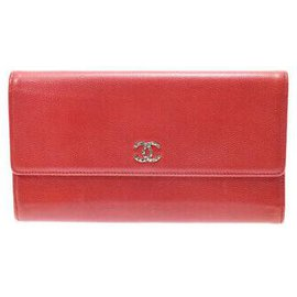 Chanel-Portefeuille long Chanel-Rouge