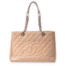 Chanel-Sac cabas classique Chanel Matelassé-Beige