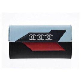 Chanel-Portefeuille Chanel-Bleu