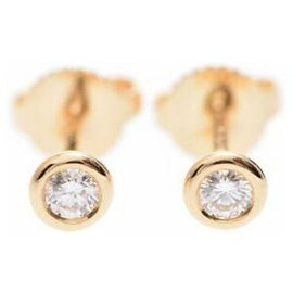 Tiffany & Co-TIFFANY & CO. TIFFANY & CO. Boucles d'oreille en diamant-Jaune