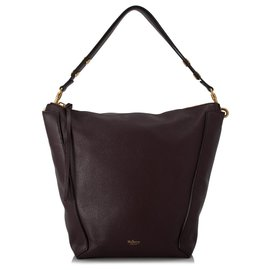 Mulberry-Mulberry Brown Grained Leather Camden Shoulder Bag-Brown,Dark brown