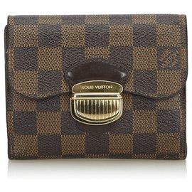 Louis Vuitton-Louis Vuitton Brown Damier Ebene Joey-Marron