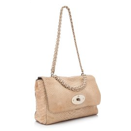 Mulberry-Mulberry Brown Python Embossed Lily-Brown,Beige
