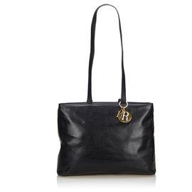 Dior-Sac cabas en cuir noir Dior-Noir