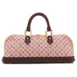 Louis Vuitton-Louis Vuitton Mini Lin Long Lin Alma Long-Rouge