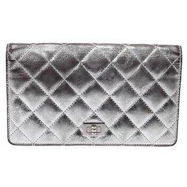 Chanel-Chanel 2.55 Pochette-Argenté