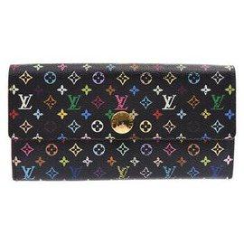 Louis Vuitton-Louis Vuitton Portefeuille Multicolore-Noir