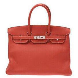 Hermès-HERMES BIRKIN 35-Rouge