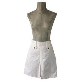 Gucci-Gucci jupe en coton-Blanc