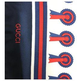 Gucci-Foulards de soie-Blanc cassé