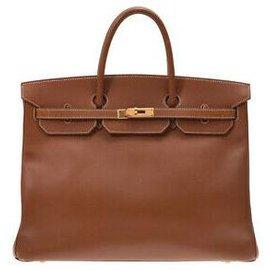 Hermès-HERMES BIRKIN 40-Brown