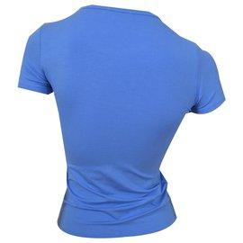 Céline-CELINE Sky Blue T-Shirt Top Size S SMALL-Blue