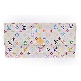 Louis Vuitton-Louis Vuitton Portefeuille Multicolore-Blanc