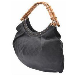 Gucci-Gucci Besace Bamboo-Noir
