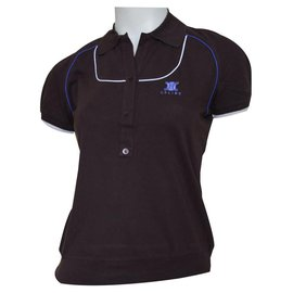 Céline-CELINE Brown Cotton Pique Short Sleeve Polo Shirt Top Size M MEDIUM-Brown
