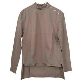 Studio Nicholson-STUDIO NICHOLSON Women's Taupe Christy Shirt Size 1 UK 10 Eur 38 £245-Taupe