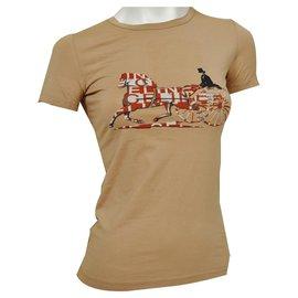 Céline-Céline Camel Top T-Shirt Size S SMALL-Caramel
