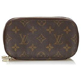 Louis Vuitton-Louis Vuitton Brown Monogram Trousse Blush PM-Marron