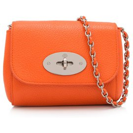 Mulberry-Mulberry Orange Leather Lily Crossbody Bag-Orange