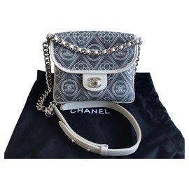 Chanel-Chanel Two way messenger bag-Grey
