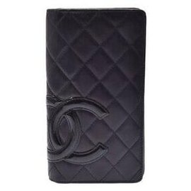 Chanel-Porte monnaie Chanel Cambon-Noir