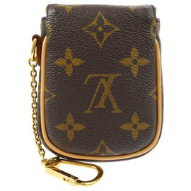 Louis Vuitton-louis vuitton Tulum key chain-Brown