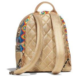 Chanel-Chanel Runway Gold Backpack-Golden