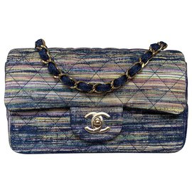 Chanel-Chanel Quilted Denim Mini Flap Bag-Multiple colors