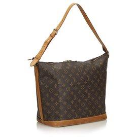 Louis Vuitton-Louis Vuitton Monogram Brown Amfar 3-Marron