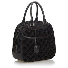 Louis Vuitton-Louis Vuitton Black 2013 Monogramme Tuffetage Deauville Cube-Noir